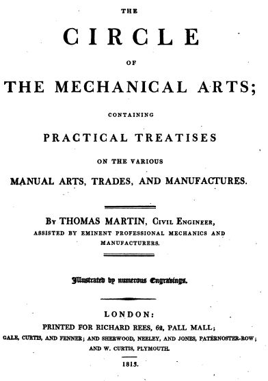 The Circle of the Mechanical Arts, Vintage Woodworking Book, Download