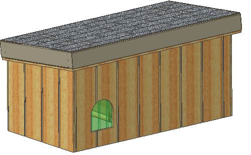 insulated dog house plans, 15 total, large dog, with covered porch