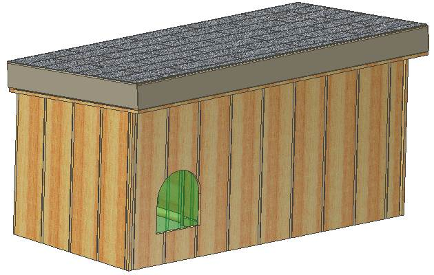 Portable Dog House Plans Removable Roof Large Dog With Covered