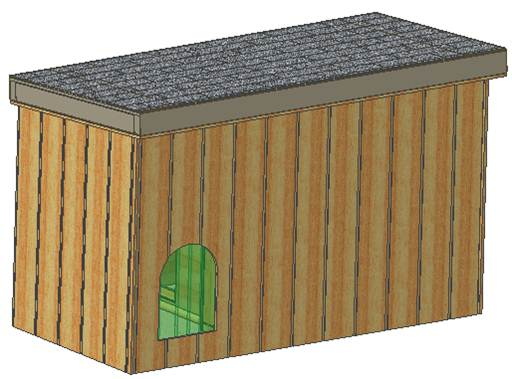 Cad designed insulated dog house plans large breed for Large breed dog house