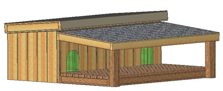 """diy insulated dog house plans, easy to build, large breed, 56"""" wide"""