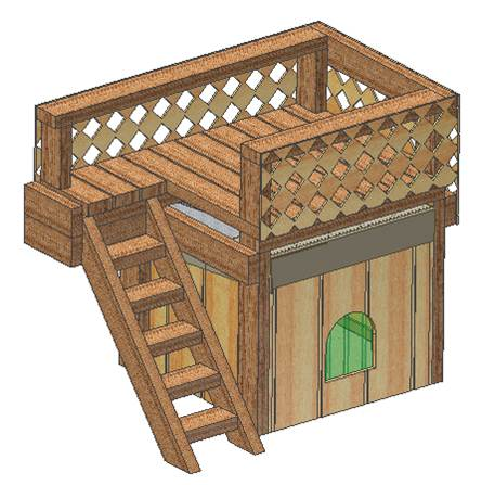 Portable dog house plans removable roof large dog with covered doghouse plans doghouse plans malvernweather Image collections