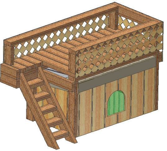 cad designed insulated dog house plans, large breed weatherproof w