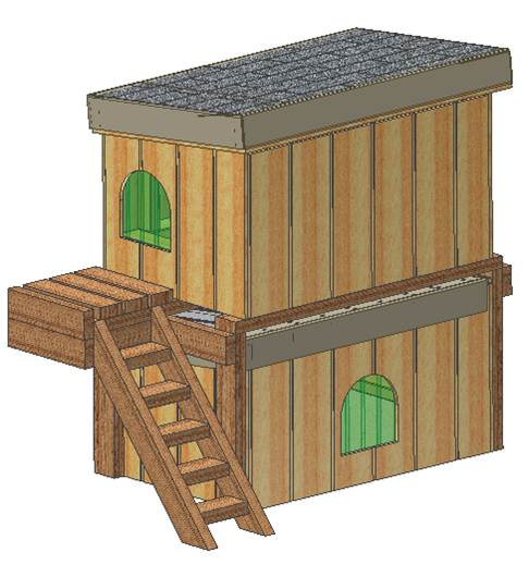 two story dog house plans