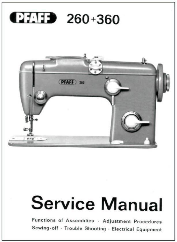 pfaff sewing machine instruction books service manuals 230 332 rh ebay com pfaff 1221 sewing machine manual pfaff sewing machines manuals 1471