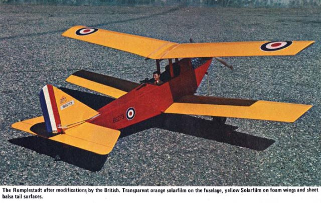 Small and Medium Scale Model Airplane Plans