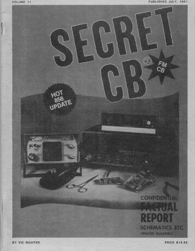 Secret CB Old Time Radio Magazines