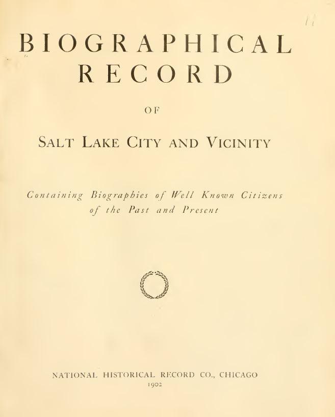 Utah Genealogy