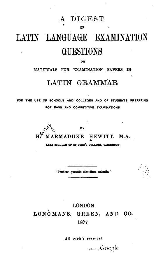 Latin Books