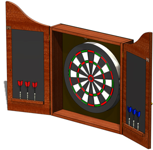 Wood Dartboard Cabinet, Wood Furniture Plans, DOWNLOAD