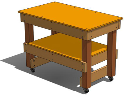 How to Build a Simple Workbench, Workshop Tool Plans, IMMEDIATE DOWNLOAD